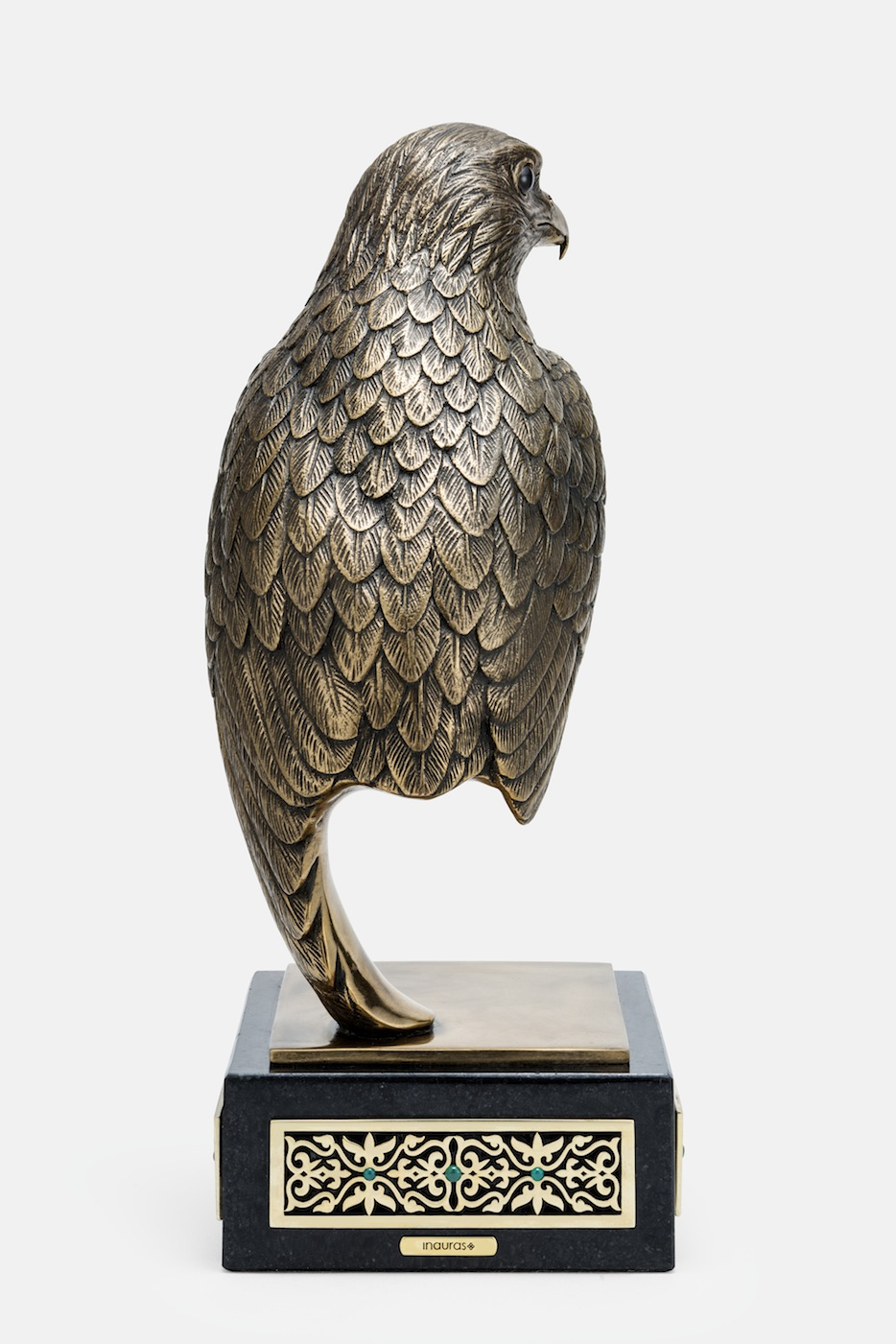 Inauras Luxury Falcon Sculptures In Bronze Silver Amp Gold